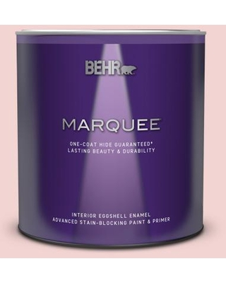 BEHR MARQUEE 1 qt. #150C-2 Hawaiian Shell Eggshell Enamel Interior Paint and Primer in One