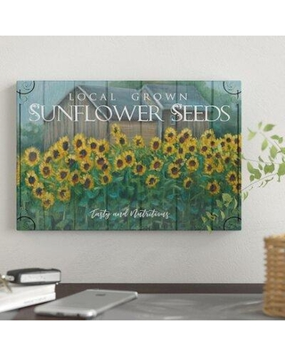 """East Urban Home 'Sunflower Seeds' Graphic Art Print on Canvas FCIV7348 Size: 12"""" H x 18"""" W x 0.75"""" D"""