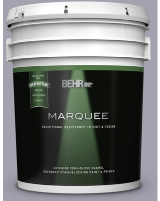 BEHR MARQUEE 5 gal. #MQ5-08 Masterpiece Semi-Gloss Enamel Exterior Paint and Primer in One