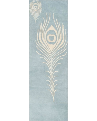 Safavieh Soho Light Blue/Ivory 3 ft. x 8 ft. Runner Rug