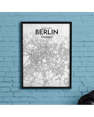 """Wrought Studio 'Berlin City Map' Graphic Art Print Poster in Tones BF153530 Size: 20"""" H x 16"""" W x 0.05"""" D"""