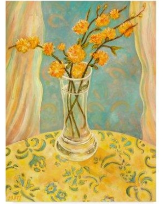 """World Menagerie 'Orange Blossom' Watercolor Painting Print on Wrapped Canvas WRME2659 Size: 32"""" H x 24"""" W x 2"""" D"""