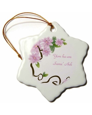 Print of Happy Mothers Day in Hebrew Snowflake Holiday Shaped Ornament The Holiday Aisle®