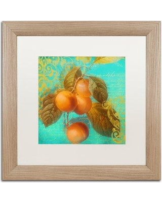 """Trademark Fine Art 'Glowing Fruits I' Framed Graphic Art ALI4481-T1 Mat Color: White Size: 16"""" H x 16"""" W x 0.5"""" D"""