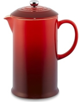 Le Creuset Cafe Stoneware French Press, Red