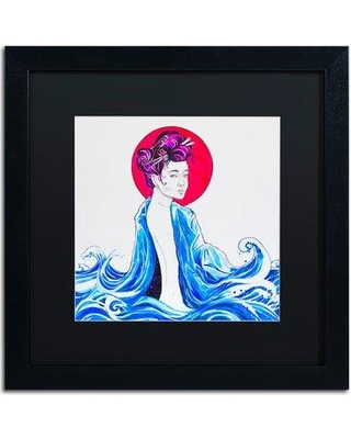 """Trademark Art 'Yume' Acrylic Painting Print on Canvas ALI5863 Size: 16"""" H x 16"""" W Matte Color: Black Format: Black Framed"""
