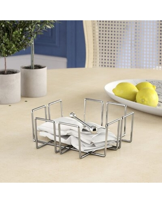 Patio Square Napkin Holder with Wire Charlton Home®