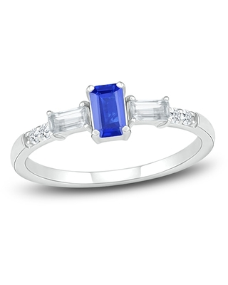 Jared The Galleria Of Jewelry Lab-Created Sapphire Ring Sterling Silver