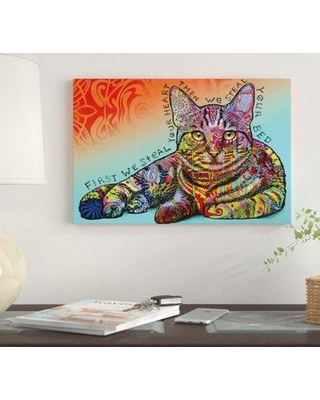 """East Urban Home 'Steal Your Bed' by Dean Russo Graphic Art Print on Wrapped Canvas EUME4367 Size: 40"""" x 60"""" x 1.5"""""""