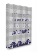 The Kids Room by Stupell Let Him Sleep Mountains Canvas Wall Art