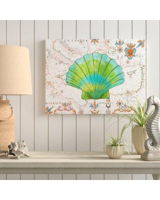 "Highland Dunes 'Nautical Treasures 2' Graphic Art Print on Wrapped Canvas HIDN6976 Size: 35"" H x 47"" W"