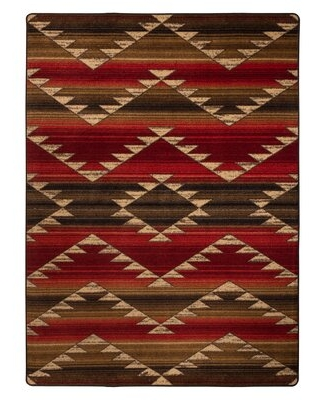 Cadnite Rumble Red Area Rug Loon Peak Rug Size: Rectangle 3' x 4'