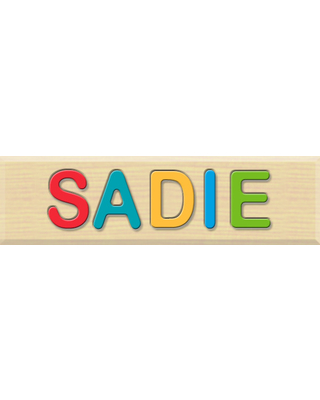 Personalized Name Puzzle - Sadie - Early Learning Toys for Babies - Fat Brain Toys
