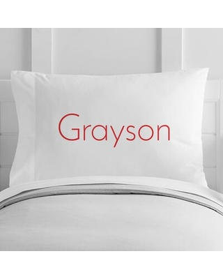 Personalized Name Toddler Pillow Case