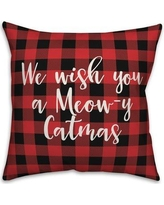 The Best Sales For The Holiday Aisle Erma We Wish You A Meowy Catmas In Buffalo Check Plaid Lumbar Pillow X111841059