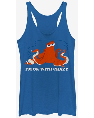 Disney Pixar Finding Dory Hank Ok Crazy Womens Tank