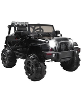 12V MP3 Kids Ride On Car Truck with Remote Control 3 Speed LED Lights Black