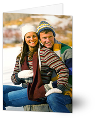 Custom Photo Personalized Christmas Cards - Vertical - Set of 15