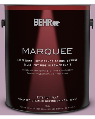 BEHR MARQUEE 1 gal. #S110-4 Highland Thistle Flat Exterior Paint and Primer in One
