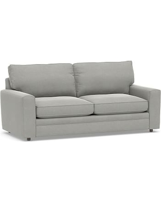 Pearce Square Arm Upholstered Sleeper Sofa, Polyester Wrapped Cushions, Performance Everydaysuede(TM) Metal Gray