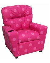 Brazil Furniture Home Theater Children's Cotton Recliner with Cup Holder 401C Color: Oxygen Pink