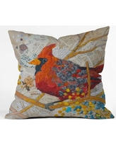 Deny Designs Elizabeth St Hilaire Nelson Cardinal Throw Pillow 13823-thrpi Size: Extra Large