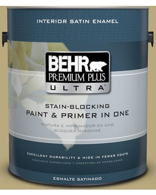 BEHR Premium Plus Ultra 1 gal. #M330-5 Fresh Brew Satin Enamel Interior Paint and Primer in One