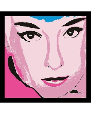 """Buy Art For Less 'Audrey Pop Babe' Framed Painting Print IF KS1160 Size: 14.5"""" H x 14.5"""" W x 1"""" D"""