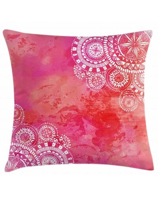 """BackgroundHand Drawn Doodles Motifs Indoor / Outdoor 40"""" Throw Pillow Cover"""