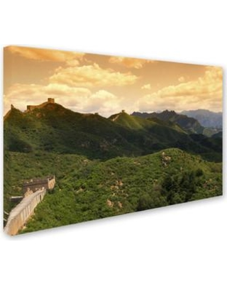 """Trademark Art """"Great Wall XVI"""" by Philippe Hugonnard Photographic Print on Wrapped Canvas PH0310-C Size: 22"""" H x 32"""" W x 2"""" D"""