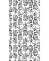 """Bay Isle Home Amador Removable Nursery Pineapples Seamless 10' L x 25"""" W Peel and Stick Wallpaper Roll CJ293942"""