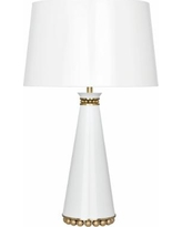 Pearl Lily and Modern Brass Table Lamp with Lily Shade