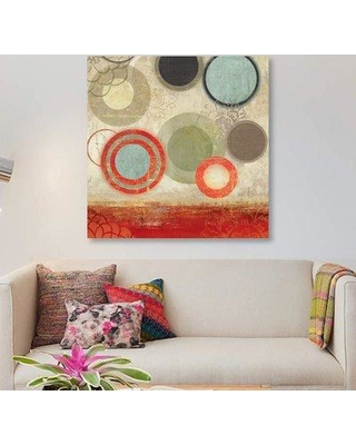 """East Urban Home 'Colourful Elements II' Graphic Art Print on Canvas ETRC3194 Size: 26"""" H x 26"""" W x 1.5"""" D"""