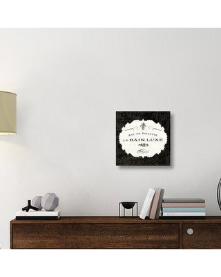 """East Urban Home 'Le Bain Luxe I Square' Textual Art on Canvas UBAH5772 Size: 18"""" H x 18"""" W x 1.5"""" D"""