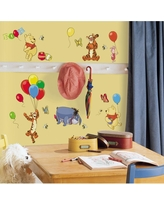 10 in. x 18 in. Winnie the Pooh - Pooh and Friends 38-Piece Peel and Stick Wall Decal - US/Mexico/Russia, Multi