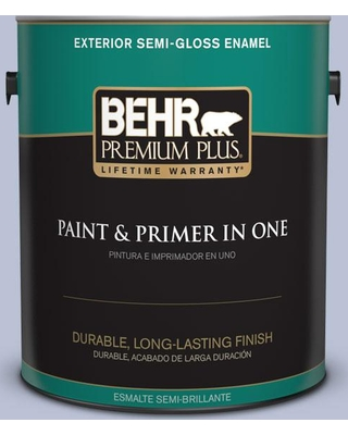 BEHR Premium Plus 1 gal. #590E-3 Hyacinth Tint Semi-Gloss Enamel Exterior Paint and Primer in One