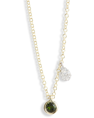Women's Meira T Diopside & Diamond Charm Necklace