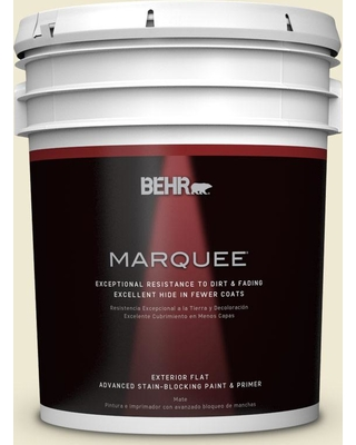 BEHR MARQUEE 5 gal. Home Decorators Collection #hdc-FL13-5 Rye Flour Flat Exterior Paint & Primer