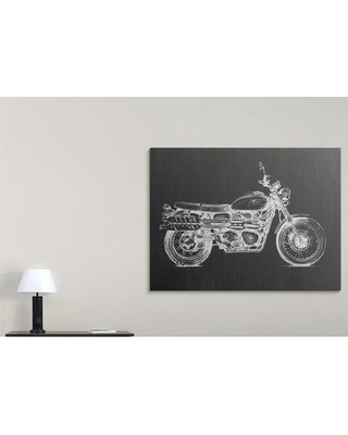 """Great Big Canvas 'Motorcycle Graphic II' Megan Meagher Graphic Art Print 2428704_1_ Size: 27"""" H x 36"""" W x 1.5"""" D Format: Canvas"""