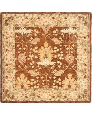 Safavieh Anatolia Brown 6 ft. x 6 ft. Square Area Rug, Brown/Beige