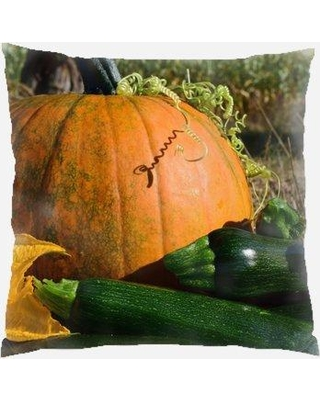 Find Big Savings On The Holiday Aisle Haskell Pumpkin Indoor Outdoor Throw Pillow Polyester Polyfill Polyester Polyester Blend In Brown Orange Green Size 18x18
