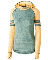 Holloway Girls Advocate Hoodie, Forest/Light Gold, L