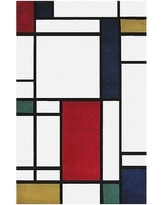 American Home Rug Co. Modern Living Neo Metro Hand Tufted Red/Black Area Rug AT058MT Rug Size: Rectangle 8' x 11'