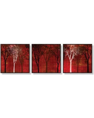 PTM Images Trees 3 Piece Framed Painting Print Set 6-1133