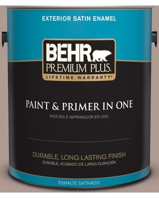 BEHR Premium Plus 1 gal. #N170-4 Coffee with Cream Satin Enamel Exterior Paint and Primer in One