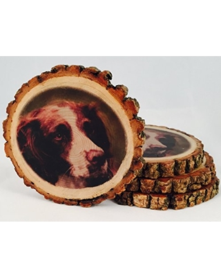 Customizable Image Natural Wood Coasters (4-Pack or 6-Pack)
