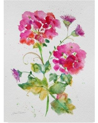 """Trademark Fine Art 'Watercolor Flowers 1' Print on Wrapped Canvas ALI37589-CGG Size: 19"""" H x 14"""" W x 2"""" D"""