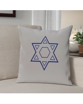 The Holiday Aisle Star of David Throw Pillow HLDY4441 Size: 20'' H x 20'' W, Color: Grey / Blue