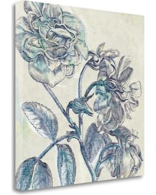 Get This Deal On Tangletown Fine Art Belle Fleur I Graphic Art Print On Wrapped Canvas Canvas Fabric In Brown Blue Gray Size 20 H X 20 W Wayfair