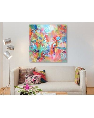 """East Urban Home 'Chasing Daylight' Watercolor Painting Print on Wrapped Canvas ESUH7580 Size: 12"""" H x 12"""" W x 0.75"""" D"""
